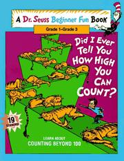 Cover of: Did I ever tell you how high you can count?