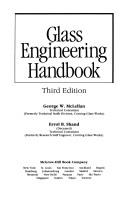 Cover of: Glass engineering handbook | Errol B. Shand