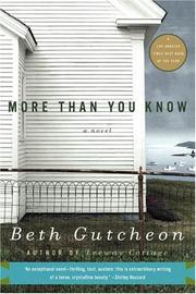 Cover of: More Than You Know