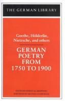 Cover of: German poetry of the nineteenth century |
