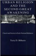 Cover of: Urban religion and the Second Great Awakening
