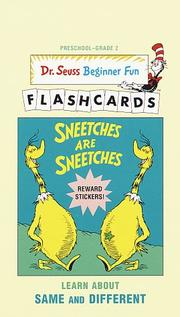 Cover of: Sneetches Are Sneetches-UPC Edition (Dr. Seuss Beg Fun Flashcrd(TM)) | Judith Conaway
