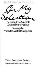 Cover of: On my selection