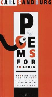 Cover of: Poems for children: nowhere near old enough to vote