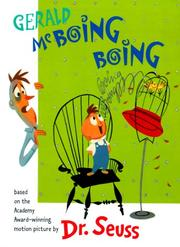 Cover of: Gerald McBoing Boing