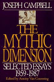 Cover of: The mythic dimension