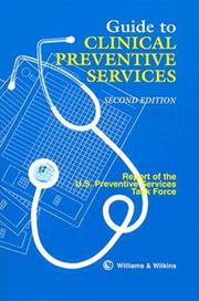 Guide to clinical preventive services by U.S. Preventive Services Task Force