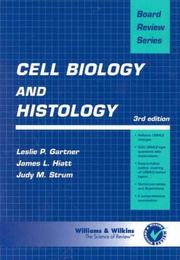 Cover of: Cell biology and histology