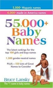 Cover of: 55,000 plus Baby Names