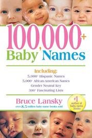 Cover of: 100,000+ baby names