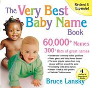 Cover of: The Very Best Baby Name Book