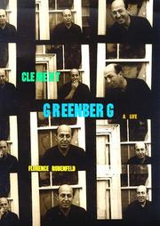 Cover of: Clement Greenberg by Florence Rubenfeld