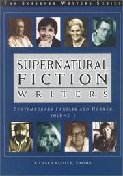 Cover of: Supernatural Fiction Writers