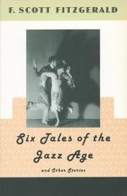 Cover of: Six tales of the jazz age: and other stories.