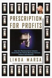 Cover of: Prescription for profits