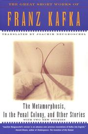 Cover of: The Metamorphosis, In The Penal Colony, and Other Stories | Franz Kafka, Joachim Neugroschel