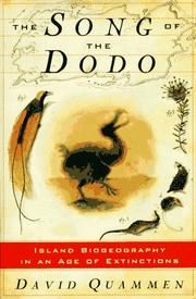 Cover of: The song of the dodo | David Quammen