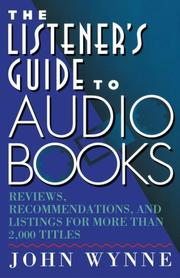 Cover of: The listener's guide to audio books