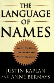 Cover of: The language of names