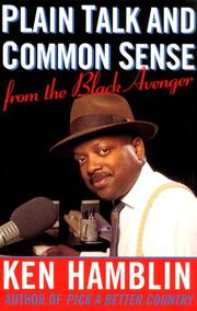 Cover of: Plain talk and common sense from the Black Avenger