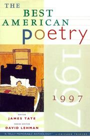 Cover of: The Best American Poetry 1997