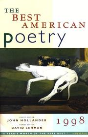 Cover of: The Best American Poetry 1998 (Best American Poetry)
