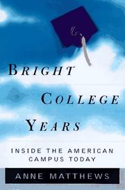 Cover of: Bright college years