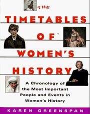 Cover of: The Timetables of Women