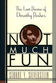 Cover of: Not much fun: the lost poems of Dorothy Parker
