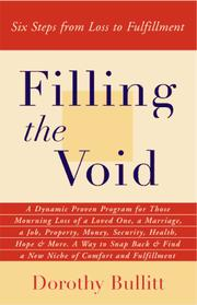 Cover of: Filling the void