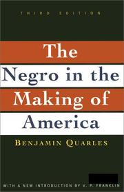 Cover of: The Negro in the making of America