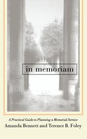 Cover of: In memoriam | Amanda Bennett