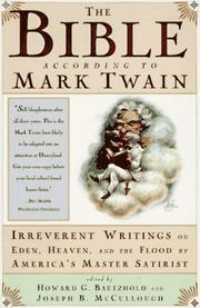 Cover of: The Bible according to Mark Twain | Mark Twain
