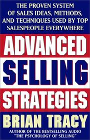 Cover of: Advanced Selling Strategies | Brian Tracy