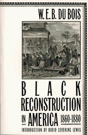 Cover of: Black reconstruction in America 1860-1880