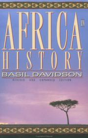 Cover of: Africa in history