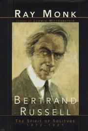 Cover of: Bertrand Russell | Ray Monk
