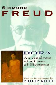 Cover of: Dora: An Analysis of a Case of Hysteria