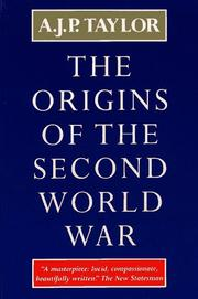 Cover of: The Origins of The Second World War