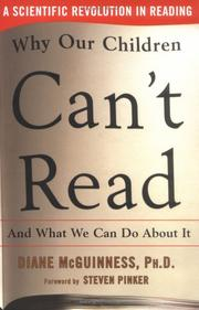 Cover of: Why our children can't read, and what we can do about it