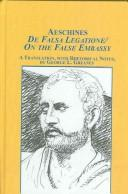 Cover of: De falsa legatione = On the false embassy