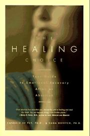 Cover of: The healing choice