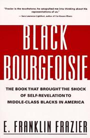 Bourgeoisie noire by Edward Franklin Frazier
