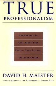 Cover of: TRUE PROFESSIONALISM