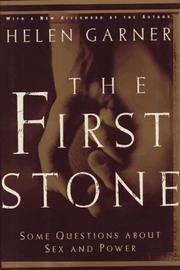 Cover of: The first stone: some questions about sex and power