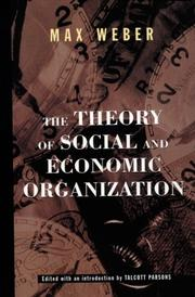 The Theory Of Social And Economic Organization