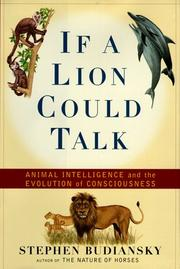 Cover of: If a Lion Could Talk