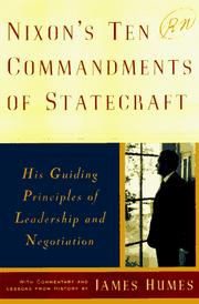 Cover of: Nixon's ten commandments of statecraft: his guiding principles of leadership and negotiation