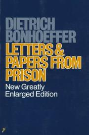 Cover of: Letter and Papers from Prison