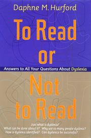 Cover of: To read or not to read | Daphne Hurford